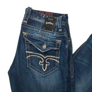 Rock Revival Antonio Straight Leg Stich Flap Jeans
